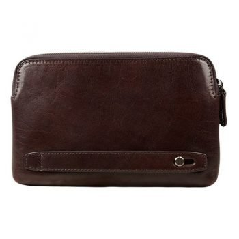 Aubergine Mens Leather Valise