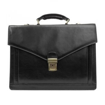 Black Premium Leather Briefcase