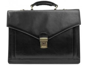 Black Premium Leather Briefcase (4)