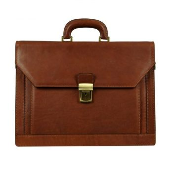Brown Leather Briefcase For Lawyers