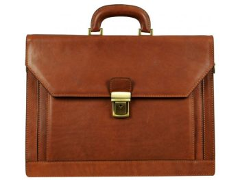 Brown Leather Briefcase For Lawyers (4)