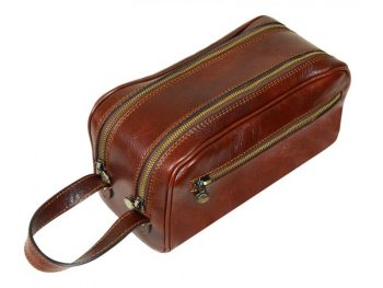 Brown Leather Cosmetic Bag (3)
