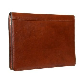 Brown Leather Document Briefcase