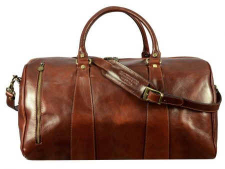 Brown Leather Sports Duffle Bag (8)