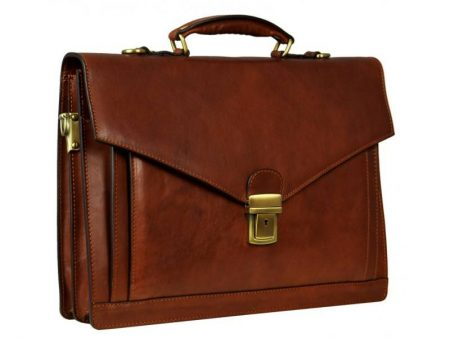 Brown Premium Leather Briefcase (1)