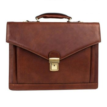 Brown Premium Leather Briefcase