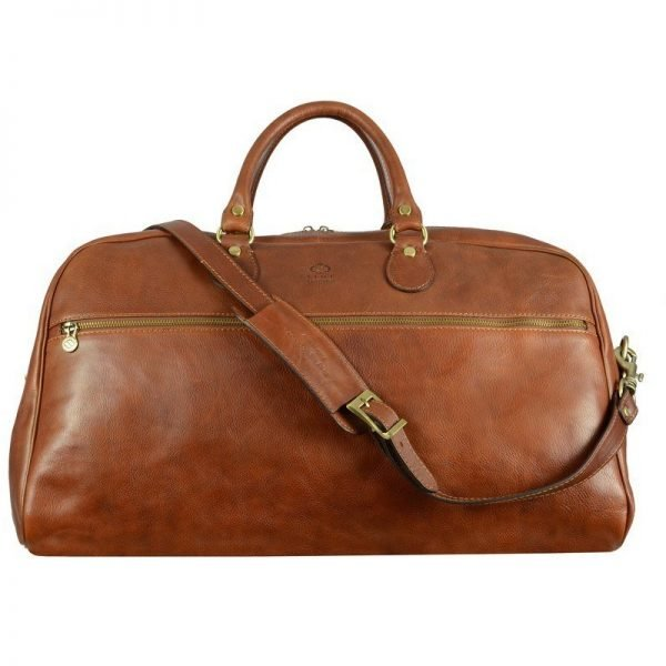Brown Sports Leather Bag