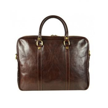 Comfortable Dark Brown Leather Bag