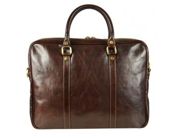 Comfortable Dark Brown Leather Bag (2)