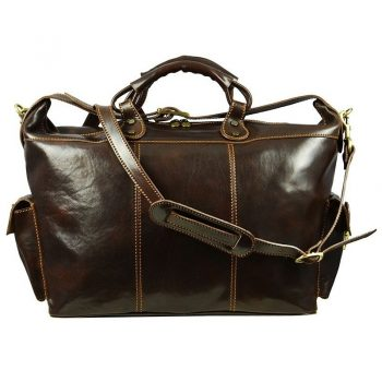 Dark Brown Classy Travel Bag