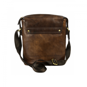 Dark Brown Leather Man Purse