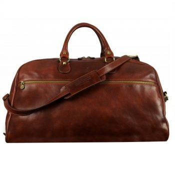 Dark Brown Leather Weekend Bag