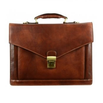 Dark Brown Premium Leather Briefcase