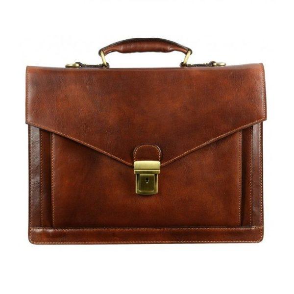 Dark Brown Premium Leather Briefcase