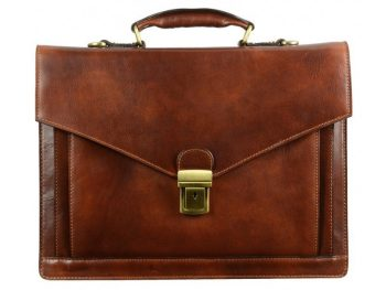 Dark Brown Premium Leather Briefcase (2)