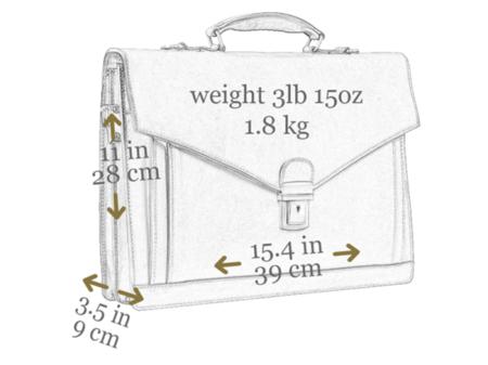 Dark Brown Premium Leather Briefcase 9