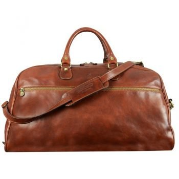 Dark Brown Sports Leather Bag