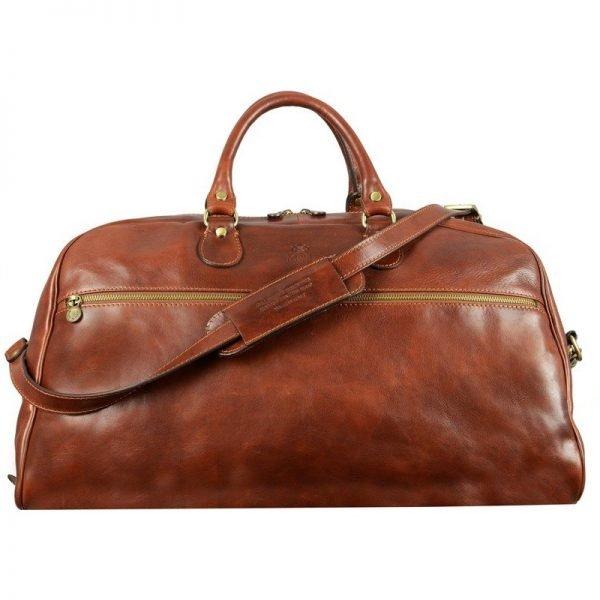 Dark Brown Sports Leather Bag
