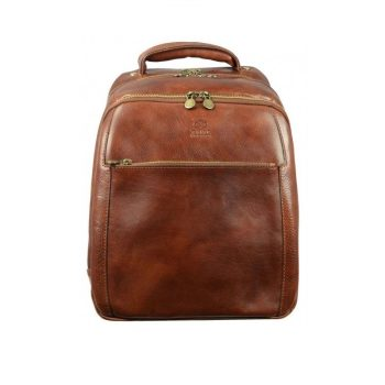 01f405ea070f Geek s Brown Leather Backpack
