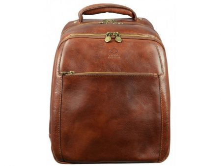 Geek's Brown Leather Backpack (6)