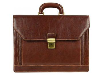Gentlemens Brown Leather Briefcase (1)