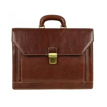 Gentlemens Brown Leather Briefcase