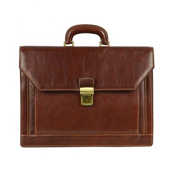 Gentlemens Brown Leather Briefcase