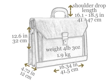 Gentlemens Brown Leather Briefcase 7