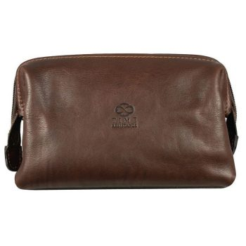 Mens Brown Cosmetic Bag