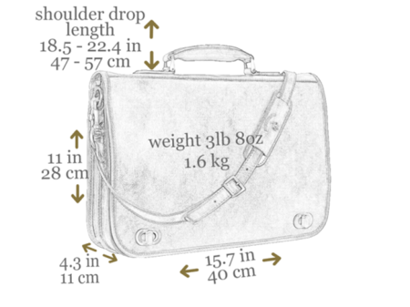 Mens Orange Leather Briefcase With Detachable Shoulder Strap 7