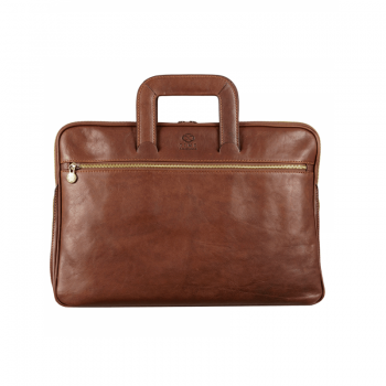 Modern Leather Messenger Briefcase