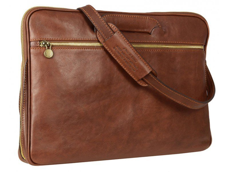 Modern Leather Messenger Briefcase Baltic Domini