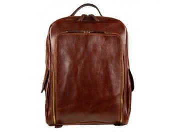 Oldschool Dark Brown Backpack (1)