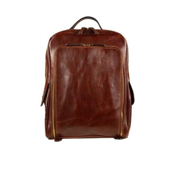 Oldschool Dark Brown Backpack