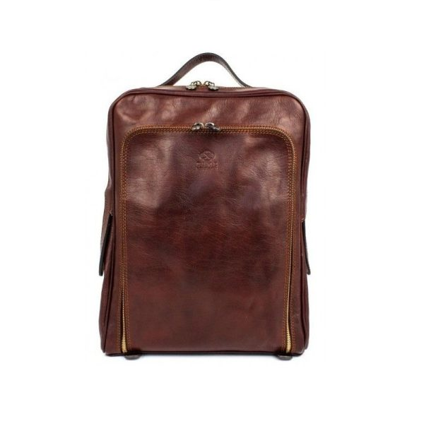Oldschool Dark Brown Backpack