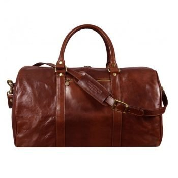 Practical Large Brown Business Duffle Bag
