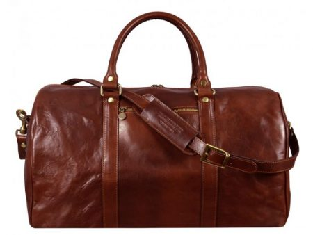 Practical Large Brown Business Duffle Bag (4)