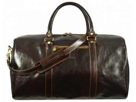 Practical Large Dark Brown Business Duffle Bag (1)