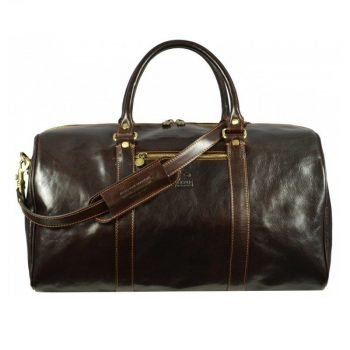 Practical Large Dark Brown Business Duffle Bag