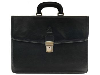 Solid Black Business Briefcase (4)