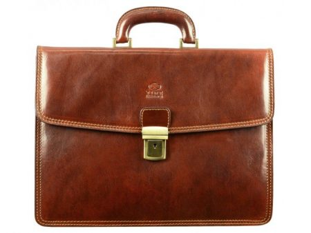 Solid Brown Business Briefcase (1)
