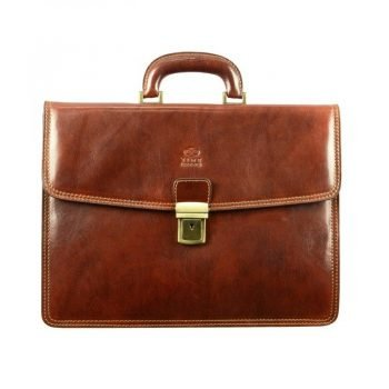 Solid Brown Business Briefcase