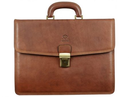 Solid Light Brown Business Briefcase (1)
