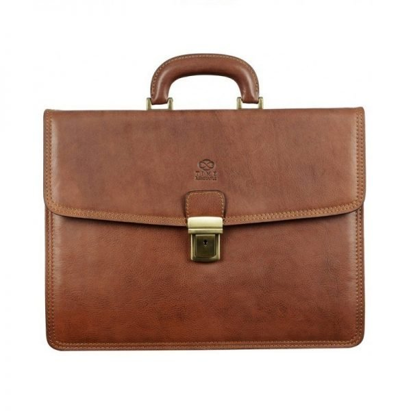 Solid Light Brown Business Briefcase
