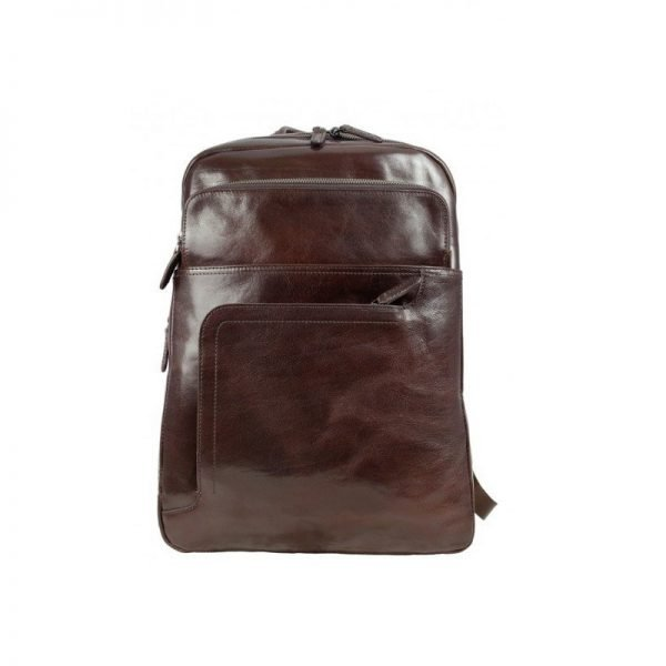 Stylish Aubergine Leather Backpack