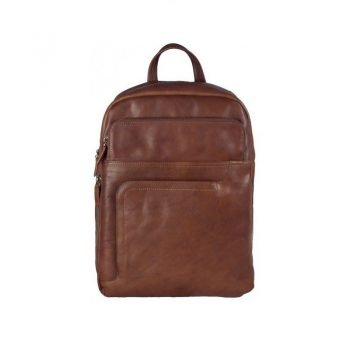 Stylish Brown Leather Backpack