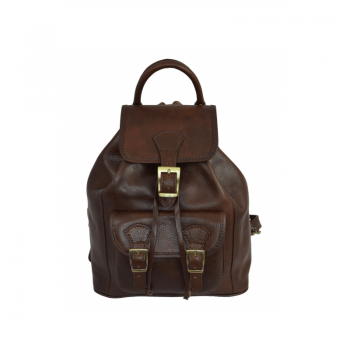 Womens Dark Brown Leather Backpack