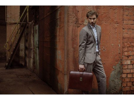 Brown Leather Business Briefcase For Men (3)