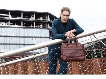 Brown Leather Laptop Bag With Shoulder Strap (1)