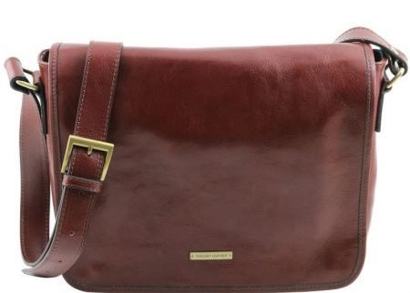 brown-TL-MESSENGER-One-compartment-leather-shoulder-bag-–-Medium-size